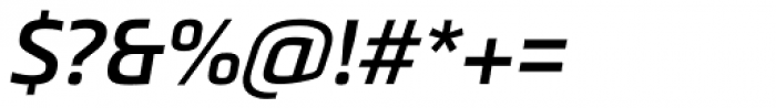 Metronic Pro SemiBold Italic Font OTHER CHARS