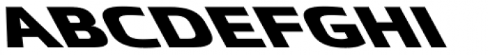 Metronic Pro Wide Reverso Black Font LOWERCASE