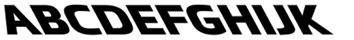 Metronic Pro Wide Reverso Heavy Font LOWERCASE