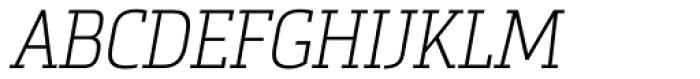 Metronic Slab Narrow Air Italic Font UPPERCASE