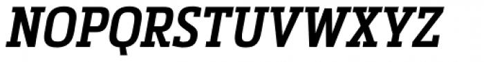 Metronic Slab Narrow Semi Bold Italic Font UPPERCASE