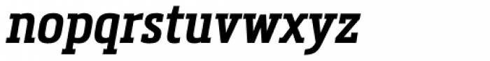 Metronic Slab Narrow Semi Bold Italic Font LOWERCASE