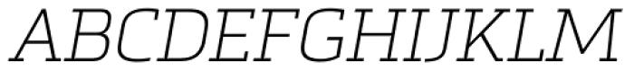 Metronic Slab Pro Air Italic Font UPPERCASE