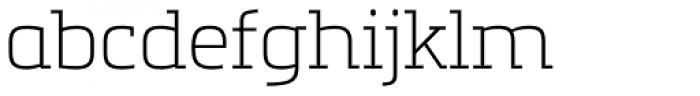 Metronic Slab Pro Air Font LOWERCASE