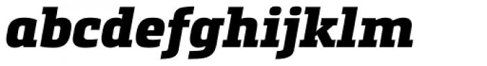Metronic Slab Pro Black Italic Font LOWERCASE