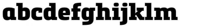 Metronic Slab Pro Black Font LOWERCASE