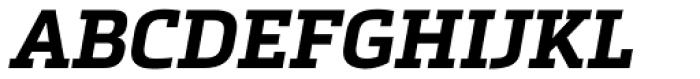 Metronic Slab Pro Bold Italic Font UPPERCASE