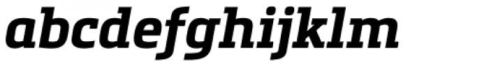 Metronic Slab Pro Bold Italic Font LOWERCASE
