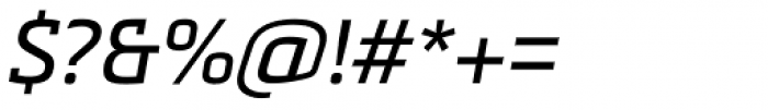 Metronic Slab Pro Italic Font OTHER CHARS