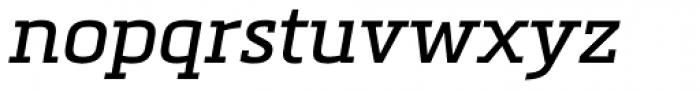 Metronic Slab Pro Italic Font LOWERCASE