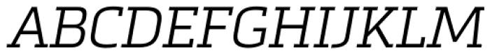 Metronic Slab Pro Light Italic Font UPPERCASE
