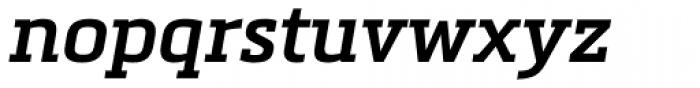 Metronic Slab Pro SemiBold Italic Font LOWERCASE
