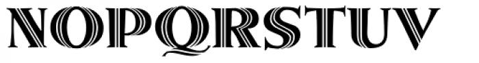 Metropolis Shaded Font UPPERCASE
