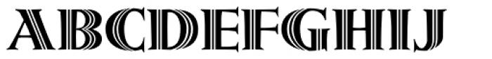 Metropolis Shaded Font LOWERCASE