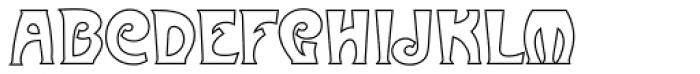 Metropolitaines Outline P Font UPPERCASE
