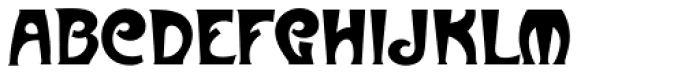 Metropolitaines Font LOWERCASE