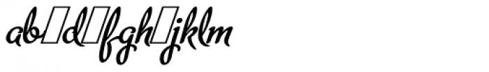 Metroscript Alt Font LOWERCASE