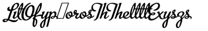 Metroscript Lig Font UPPERCASE