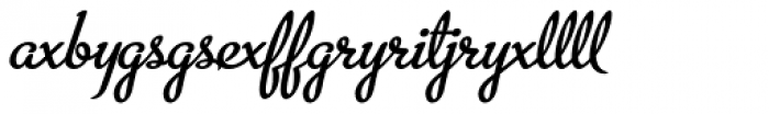 Metroscript Lig Font LOWERCASE