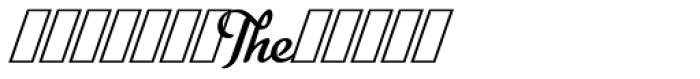 Metroscript Swash Font UPPERCASE