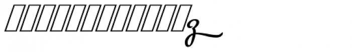 Metroscript Swash Font LOWERCASE