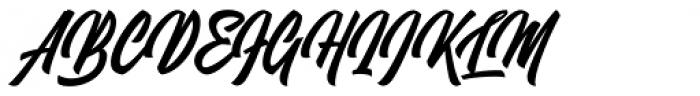 Mettars Font UPPERCASE