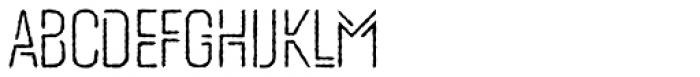 Mezitha Rough Font UPPERCASE