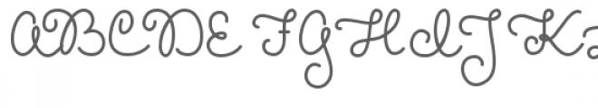 melanie font Font UPPERCASE