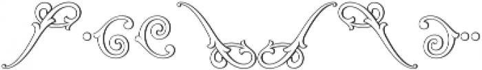 MFC Aldercott Monogram Regular otf (400) Font OTHER CHARS