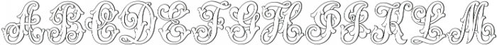 MFC Aldercott Monogram Regular otf (400) Font UPPERCASE