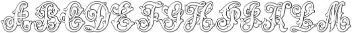 MFC Aldercott Monogram Regular otf (400) Font LOWERCASE