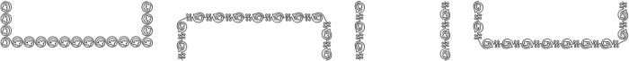 MFC Arteaga Borders Two Regular otf (400) Font UPPERCASE