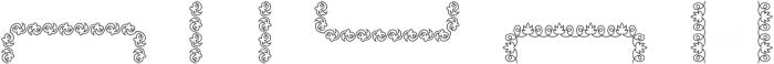 MFC Arteaga Borders Two Regular otf (400) Font LOWERCASE