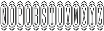 MFC Bijou Monogram Regular otf (400) Font UPPERCASE