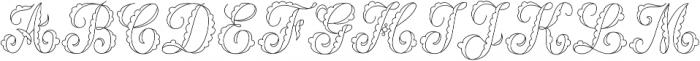 MFC Billow Monogram Regular otf (400) Font UPPERCASE
