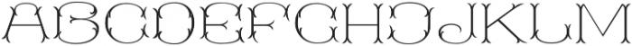 MFC Blossom Monogram Stencil otf (400) Font UPPERCASE