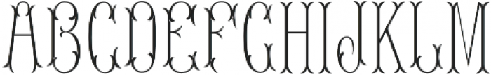 MFC Blossom Monogram Stencil otf (400) Font LOWERCASE