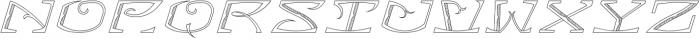 MFC Bontebok Monogram Regular otf (400) Font UPPERCASE