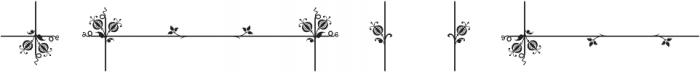MFC Botanical Borders otf (400) Font OTHER CHARS