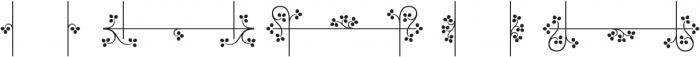 MFC Botanical Borders otf (400) Font LOWERCASE