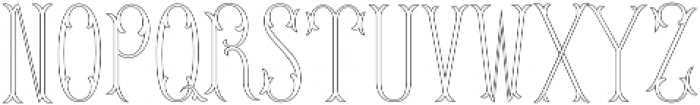 MFC Budding Monogram Basic otf (400) Font UPPERCASE