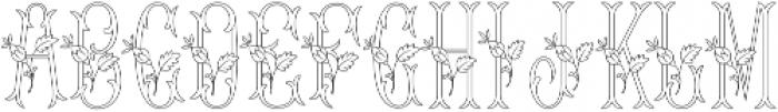 MFC Budding Monogram Flourish otf (400) Font UPPERCASE