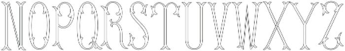 MFC Budding Monogram Regular otf (400) Font UPPERCASE