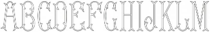MFC Budding Monogram Regular otf (400) Font LOWERCASE