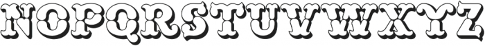 MFC Buttergin Monogram Outline otf (400) Font UPPERCASE