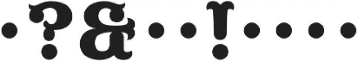 MFC Buttergin Monogram Regular otf (400) Font OTHER CHARS