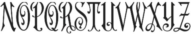 MFC Carson Monogram Regular otf (400) Font UPPERCASE