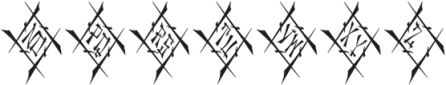 MFC Chaoxiang Monogram Regular otf (400) Font UPPERCASE