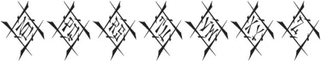 MFC Chaoxiang Monogram Regular otf (400) Font LOWERCASE