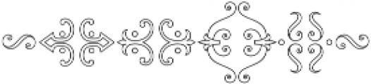 MFC Chaplet Monogram 250 Impressions otf (400) Font OTHER CHARS